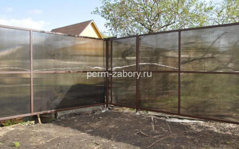 забор из поликарбоната в Перми