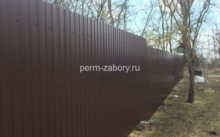 забор из профлиста в Перми