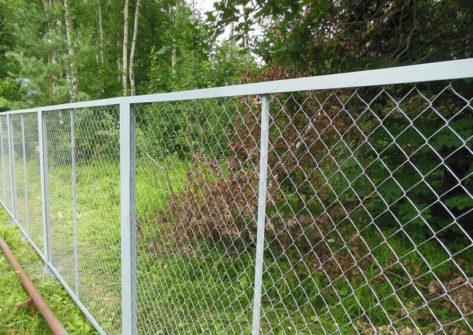 забор из сетки рабицы цена с установкой